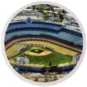 Home Of The Los Angeles Dodgers Round Beach Towel