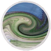 Home Planet - Gravity Well Round Beach Towel