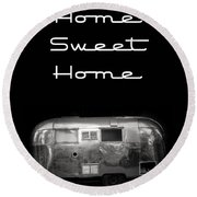 Home Sweet Home Vintage Airstream Round Beach Towel