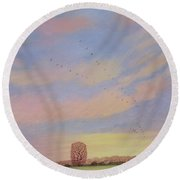 Homeward Round Beach Towel by Ann Brian
