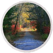 Round Beach Towel featuring the photograph Homeward Bound by Neal Eslinger