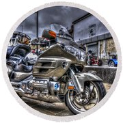 Honda Goldwing 2 Round Beach Towel by Steve Purnell