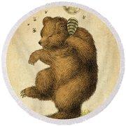Honey Bear Round Beach Towel