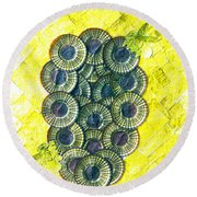 Honeybee 1 Round Beach Towel