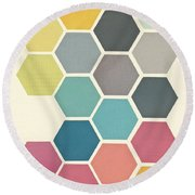 Honeycomb II Round Beach Towel