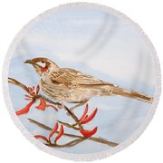 Honeyeater  Round Beach Towel