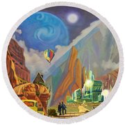 Honeymoon In Oz Round Beach Towel by Art West