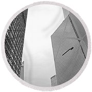 Hong Kong Architecture Round Beach Towel
