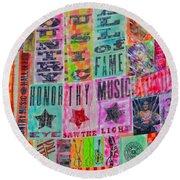 Honor Thy Music Blanket Round Beach Towel