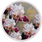 Hood Canal Iris Round Beach Towel by Jeff Burgess
