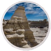 Hoodoo Rock Formations Round Beach Towel