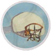 Hoop Dreams Round Beach Towel
