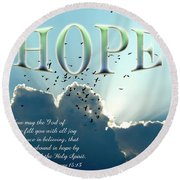 Hope Round Beach Towel by Carolyn Marshall