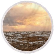 Hope For The Desolate Round Beach Towel