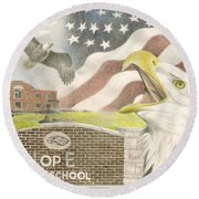 Hope High School Round Beach Towel