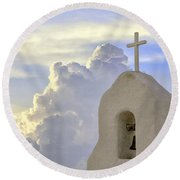Hope In The Storm Round Beach Towel
