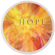 Hope Round Beach Towel by Margie Chapman