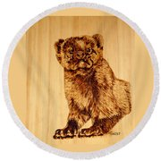 Hope's Marten Round Beach Towel by Ron Haist