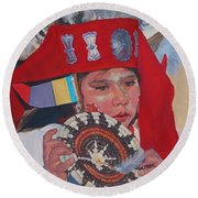 Hopi Basket Dancer Round Beach Towel