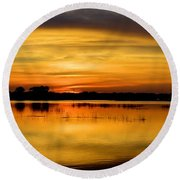 Horizons Round Beach Towel by Bonfire Photography