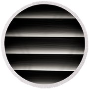Horizontal Blinds Round Beach Towel