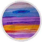 Horizontal Landscape After Rothko Round Beach Towel