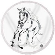 Horse- Andalusian Angel Round Beach Towel