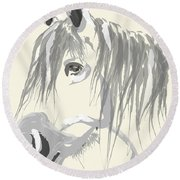 Horse- Big Jack Round Beach Towel