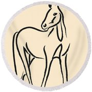 Horse - Grace Round Beach Towel