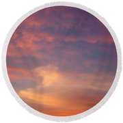 Horse In The Sky Round Beach Towel
