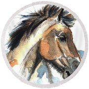 Horse-jeremy Round Beach Towel
