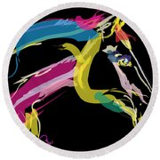 Horse- Lovely Colours Round Beach Towel