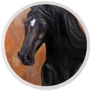 Horse - Lucky Star Round Beach Towel