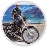 Horses Of Iron10 Round Beach Towel