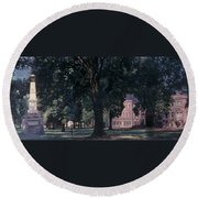 Horseshoe At University Of South Carolina Mural Round Beach Towel