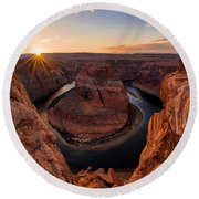 Horseshoe Bend Round Beach Towel