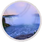 Horseshoe Falls Sunset In The Summer Round Beach Towel