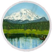 Hosmer Lake Round Beach Towel