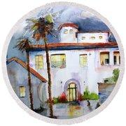 Hospitality House Round Beach Towel by Carlin Blahnik