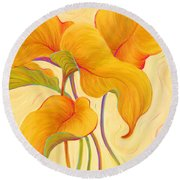 Hosta Hoofers Round Beach Towel