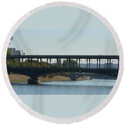 Hot Air Balloon In Paris Round Beach Towel