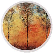 Hot Hillside Round Beach Towel
