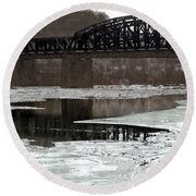 Hot Metal Bridge Round Beach Towel