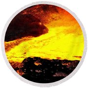 Hot Rock And Lava Round Beach Towel