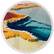 Hot Spring Perspective Round Beach Towel