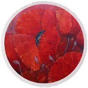 Hot Summer Round Beach Towel