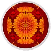 Hot Tropical Zen Round Beach Towel