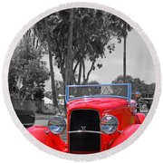 Round Beach Towel featuring the photograph Hot V8 by Shoal Hollingsworth