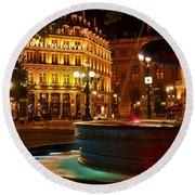 Hotel Du Louvre Round Beach Towel