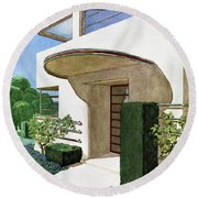 House & Garden Cover Illustration Of A Modern Round Beach Towel